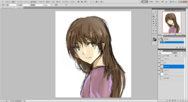 WordPressサイト用のプロフ画像をphotoshopで描いてみた。