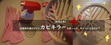 【閲覧注意】浴室排水溝のカビにカビキラーを使ったら、本当にキレイになる?